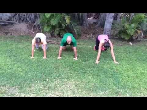 (83) Ejercicio Paso del oso para coordinar y fortalecer abdomen y piernas - YouTube