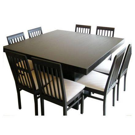 Mesas de comedor principales cuadradas o rectangulares la for Mesa 8 personas medidas
