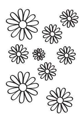 Flowers coloring. Margaritas para pintar gratis: http://dibujos-para-colorear.euroresidentes.com/2013/04/margaritas-para-colorear.html