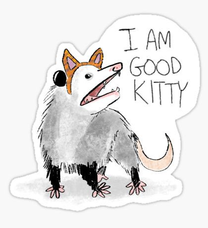 """I AM GOOD KITTY"" Design Sticker"