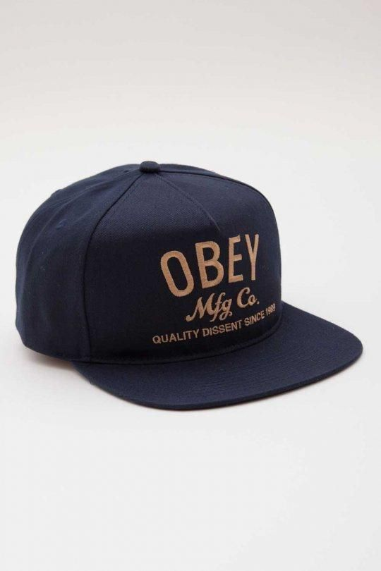 Obey MFG Snapback Hat Navy