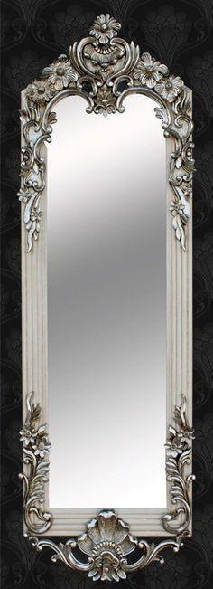 Elegante espejo de vestir