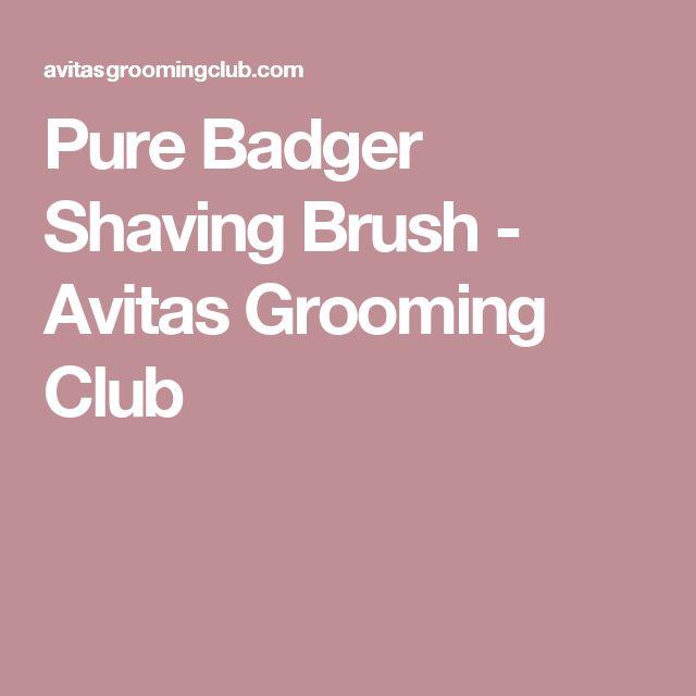 Pure Badger Shaving Brush - Avitas Grooming Club