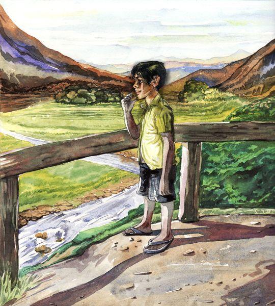Think Boy Illustration.