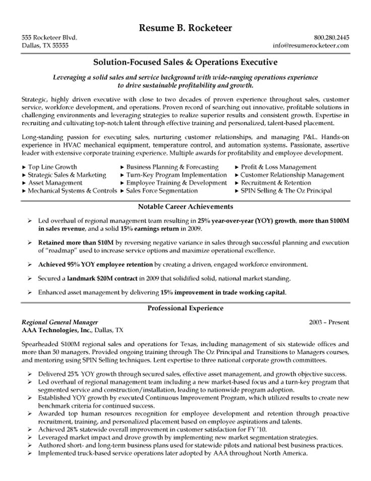 Resume Of Sales Operations Manager - Better opinion