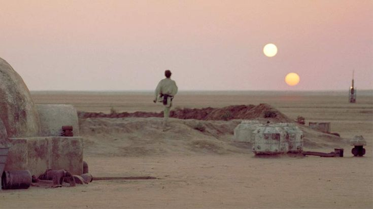 tatooine sunset - to live on a planet with a binary star system.....A girl can dream.