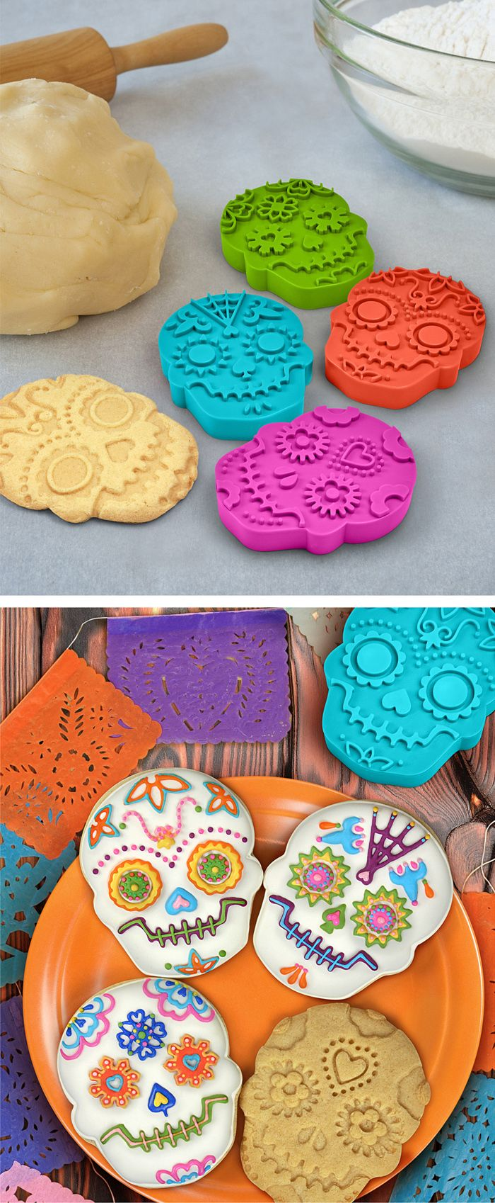 Sugar skull cookie stamp #product_design #kitchen #baking