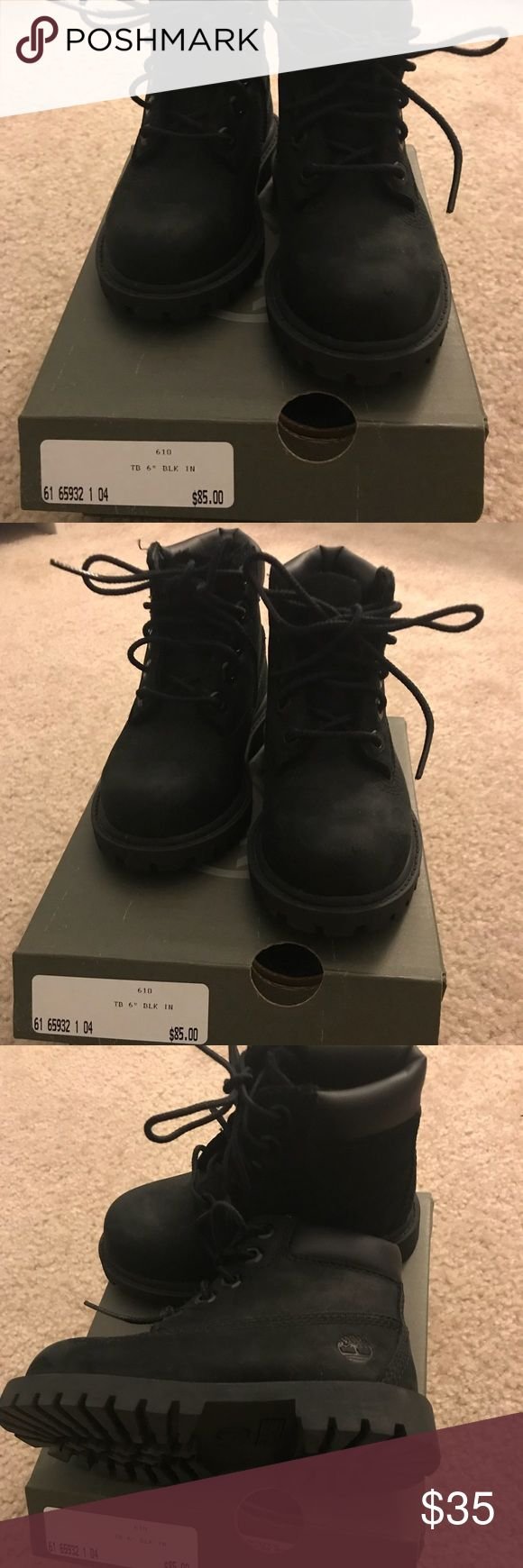 Toddler boy size 7 Timberland black boots Gently worn toddler size 7 Timberland boots in black suede. Great for the winter and with the snow! Timberland Shoes Boots