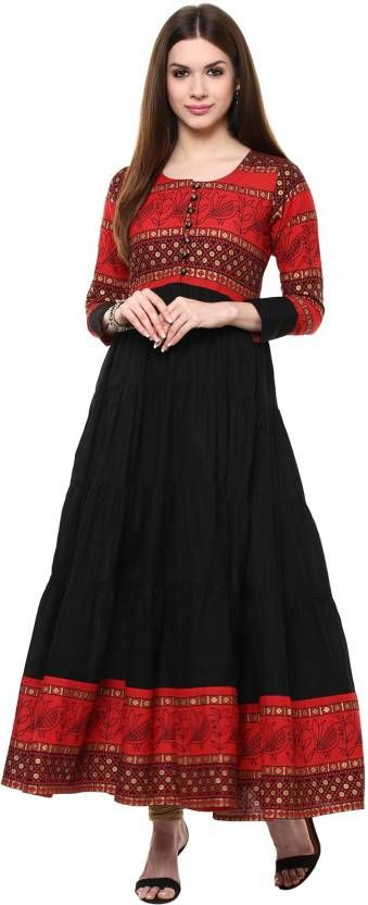 IVES Abstract Women's Anarkali Kurta