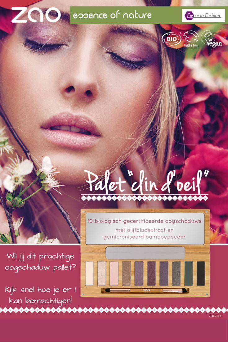 Oogschaduwpallet van ZAO 100% natuurlijke make-up. Cadeau voor jezelf of een ander!