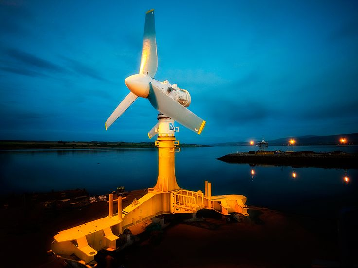 Northeast Scotland might soon be home to the world's largest tidal energy park. The photo shows the AR1500 tidal turbine which will be submerged on the Scottish seabed. Read story: http://grenblg.in/141E1PS