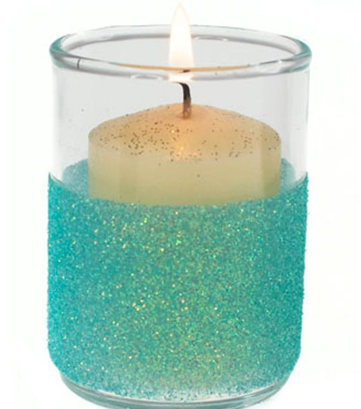 Add some sparkle to summer nights with this diy project for Homemade votive candles