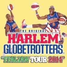 Harlem Globetrotters Italian Tour 2014. I leggendari giocatori del basket mondiale si esibiranno nel nostro Paese dal 27 aprile al 4 maggio, con una partita-spettacolo che verrà giocata ogni sera in una città diversa.  Con le indimenticabili gag, le schiacciate a vette siderali, la magia di una palla che scompare e riappare tra le mani sapienti di acrobati, giocolieri e artisti, gli Harlem arrivano dritto al cuore dei bambini, delle famiglie e di tutti gli appassionati di basket.