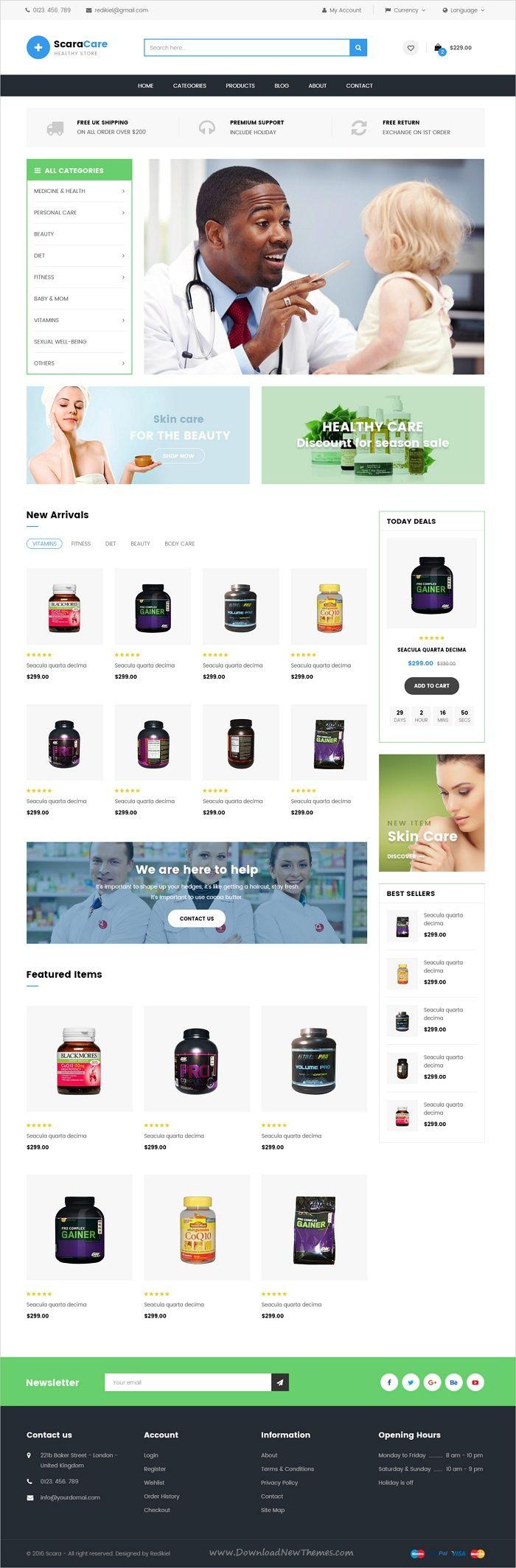 scara multipurpose psd template - Best Home Page Design