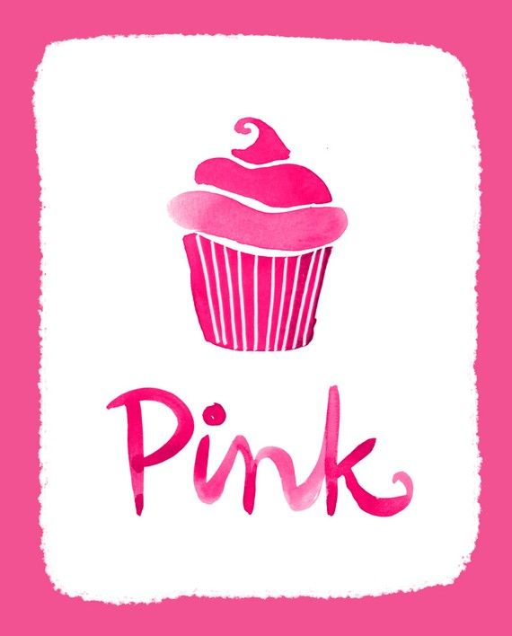 Pink with cupcake