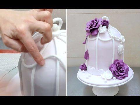 Vintage Birdcage Cake Decorating by CakesStepbyStep