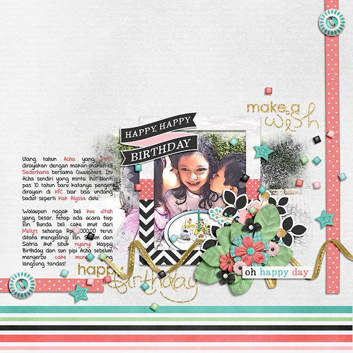 Happiness Is: Cake & Confetti by Meghan Mullens & Tickled Pink Studio