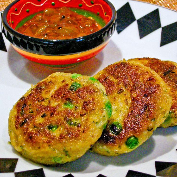 Kruidige Indiase aardappelpannenkoekjes met chutney