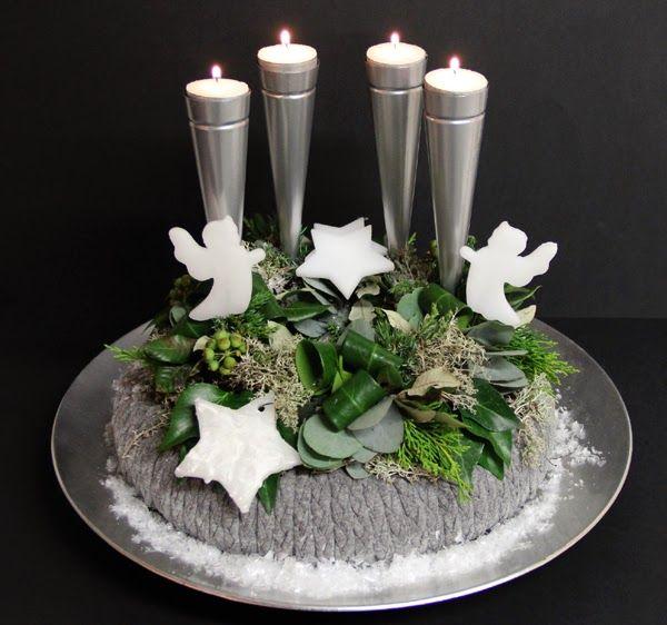 Адвент & Рождественские цветочные композиции - 12. Венок Адвента