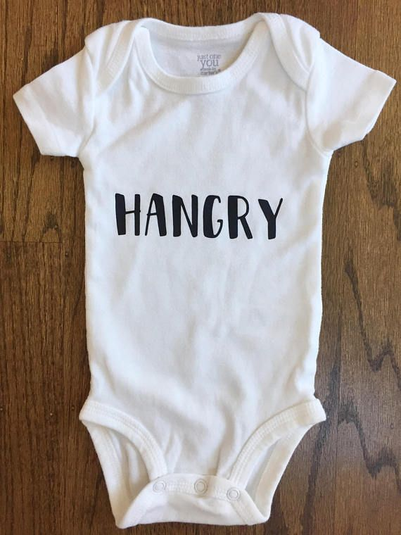 Funny Baby Bodysuit | Funny Baby Sayings | Hangry | Baby Shower Gift |  Hipster Baby