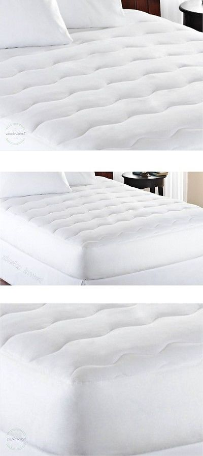 mattress pads and feather beds queensize mattress pad extra thick white padded