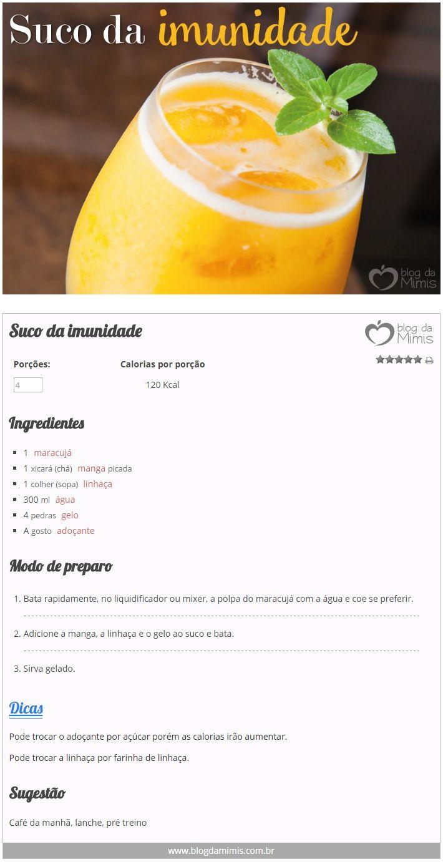 Suco da Imunidade - Blog da Mimis - Bebida poderosa turbina a imunidade e ainda…