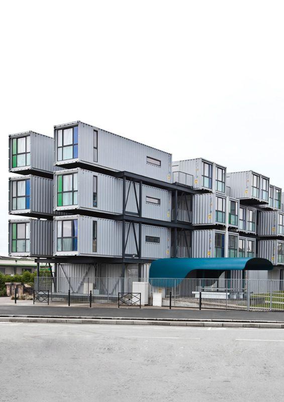 iDesignMe-A'Docks-Havre-5 #lehavre #schoool #design #container #architecture #publicspace #public #university http://idesignme.eu/2013/07/residenza-universitaria-adocks-di-le-havre/