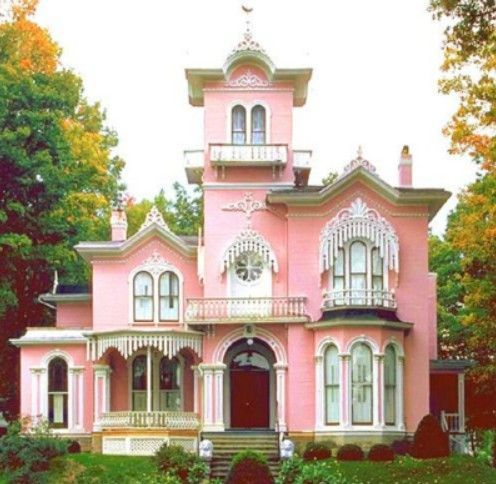 .Victorian House, Pink Lady, Dreams Home, Real Life, Victorian Home, Dreams House, Pink Houses, Dolls House, Pink Princesses