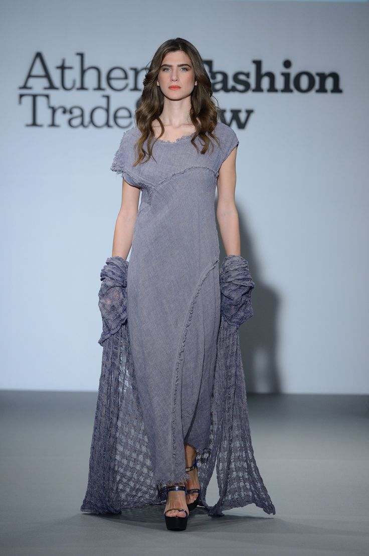 Amazing long lavender linen dress. With linen  fishnet jacket.  100% Natural fabrics only