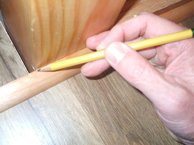 How to Install Shoe Molding or Quarter-Round and Cut a Return: Mark Your Cut Point and Angle of Cut
