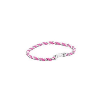 Phiten Tornado Titanium Necklace - Pink/White