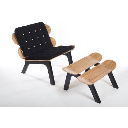 IM BOARD Skateboard Furniture Black Edition + Sort Hynde