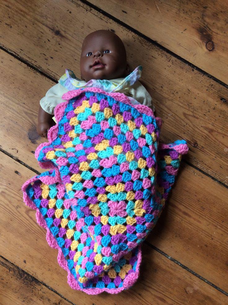 Dolly blanket in use.