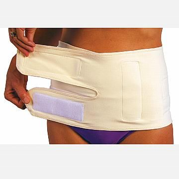 Wide, Cotton Binder with 2 straps protects the C-Section Incision and reduces pain, while targeting support for belly and back.   C-Section Belly Band w/