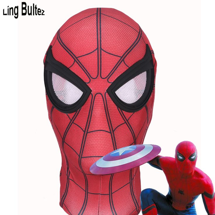 ==> [Free Shipping] Buy Best Ling Bultez High Quality Captain America Spiderman Mask Civil War Spierman Mask With Lens Online with LOWEST Price | 32787009532