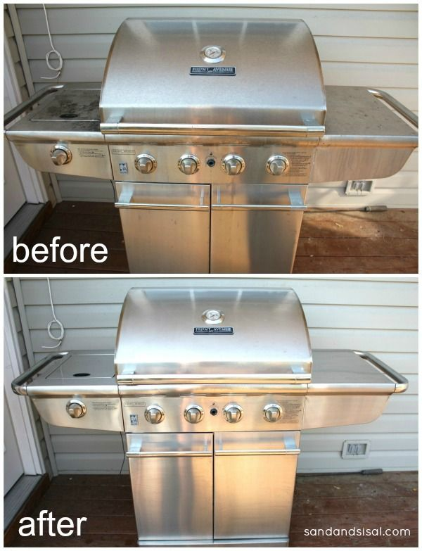 gross to gorgeous best ways to clean stainless steel grills backyards spring and stainless. Black Bedroom Furniture Sets. Home Design Ideas