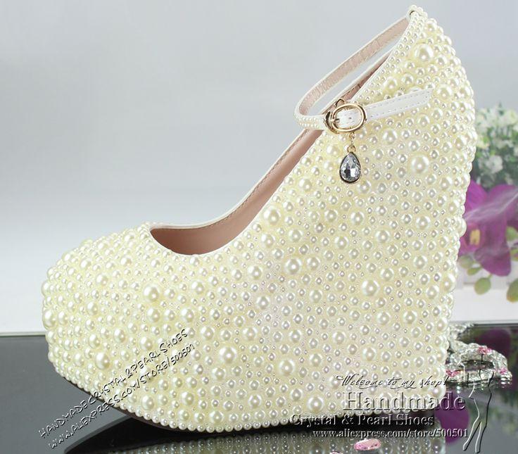 free shipping fashion shoes for women ultra high heels wedge bridal shoes wedding shoe ivory 17830