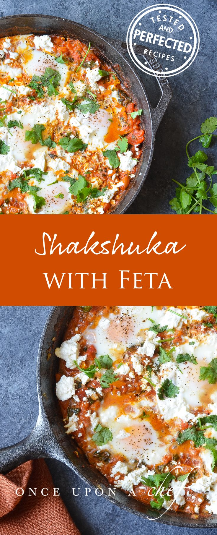 Shakshuka- One of the best things that I ate on my recent trip to Israel was shakshuka, a one-skillet dish of eggs poached in a smoky, spicy, vegetable-laden tomato sauce.