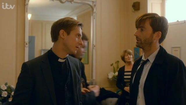 Broadchurch Season 1 Hardy and Rev Coates  David Tennant and Arthur Duvall