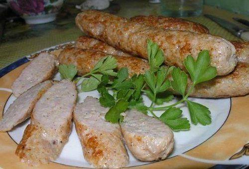 Домашние куриные колбаски   Домохозяйка