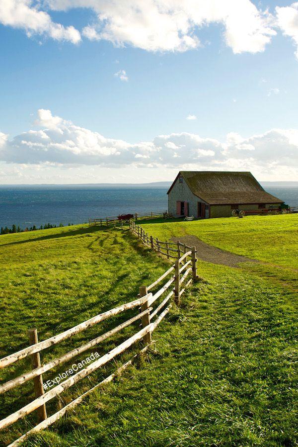 See the rolling hills of Cape Breton Island, Nova Scotia | @explorecanada