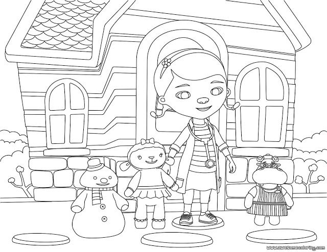 doc mcstuffins and friends 2 coloring page ready to download or print great coloring activity disney jrdisney - Disney Jr Coloring Pages Print