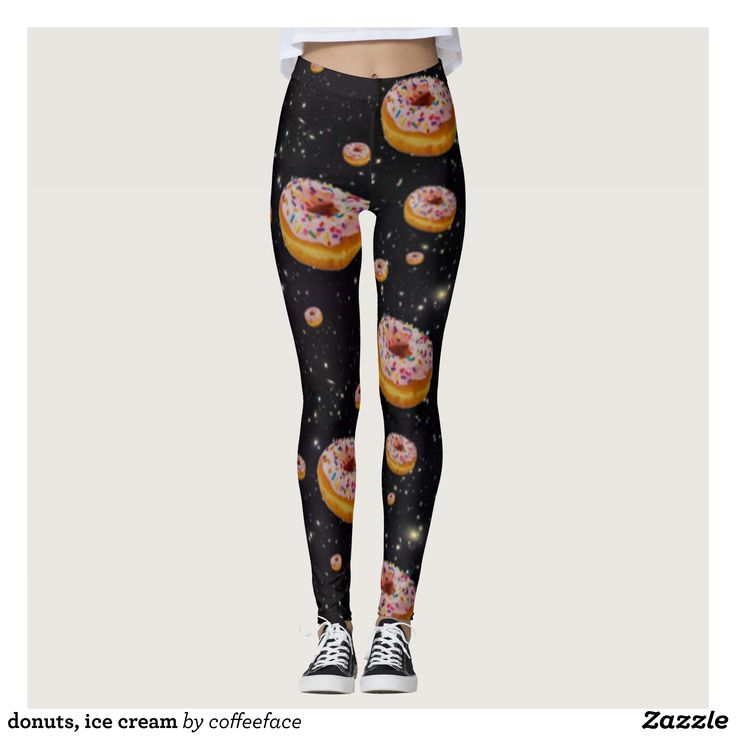 donuts ice cream leggings - Printed #Yoga #Leggings & Running Tights Creative Workout and #Gym #Fashion Designs From International Artists - #pilates #exercise #crossfit #workout #tights #running #sports #design #fashiondesign #designer #fashiondesigner #style #pants