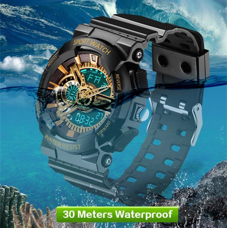 2016 SANDA G Style/S Shock Dual Display Waterproof Sports Military Watch