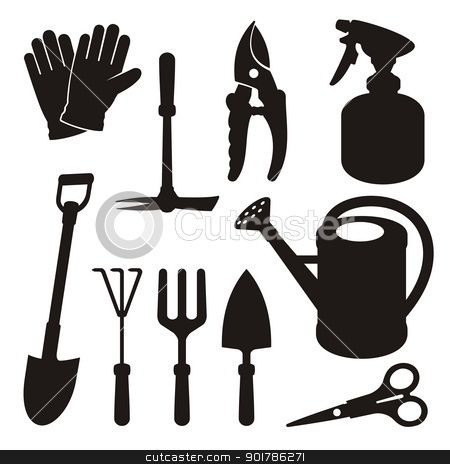 59 best images about bridal shower invites on pinterest for Gardening tools vector