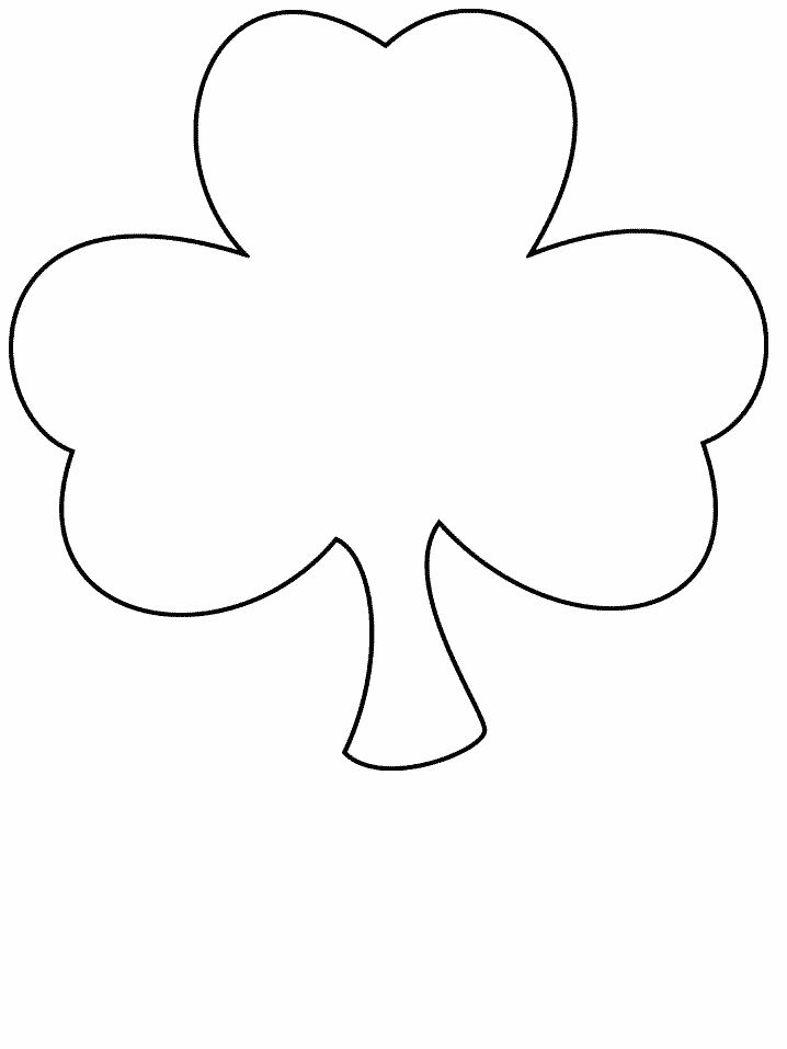 clover simple shapes coloring pages coloring page book