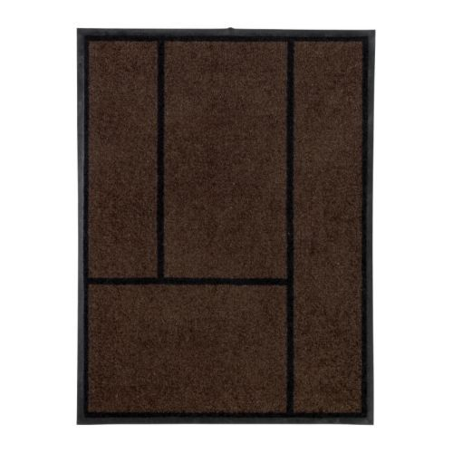 KÖGE Door mat IKEA Easy to clean; shake, vacuum or rinse. Rubber on the underside; adds weight to the rug and keeps it firmly in place.£15