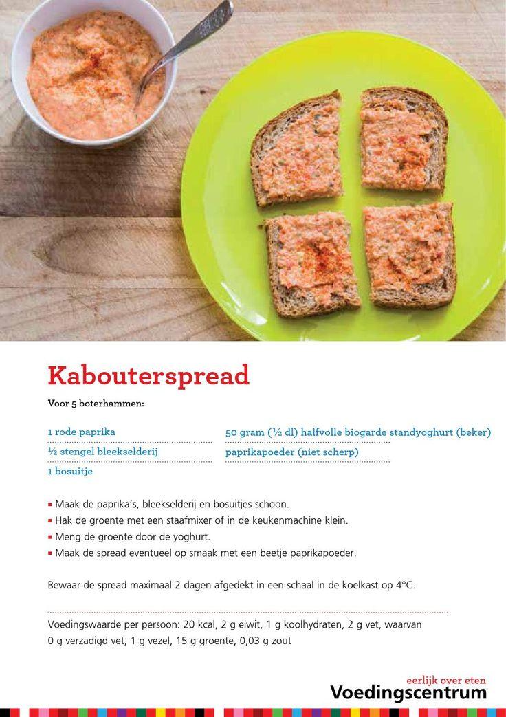 3 groentespreads voor op brood voor ouders by Voedingscentrum
