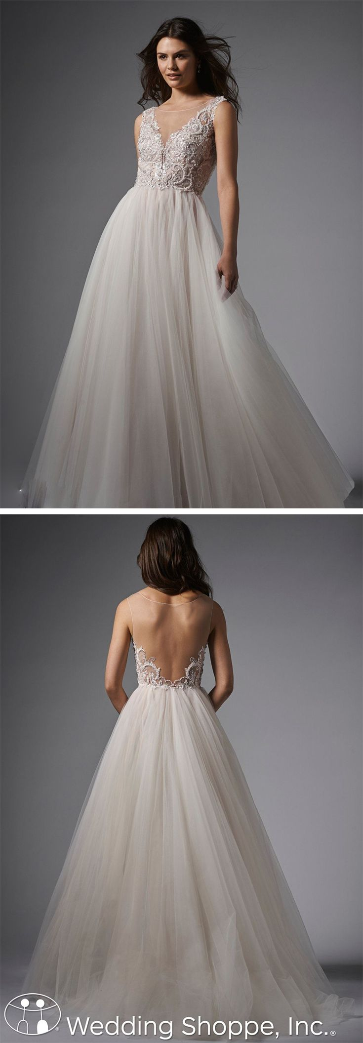 This wedding dress is gorgeous!  Absolutely love the back.