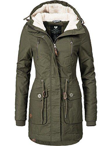 f89d057c9246 Ragwear Damen Mantel Wintermantel Winterparka YM-Elsa (vegan hergestellt) 3  Farben XS-